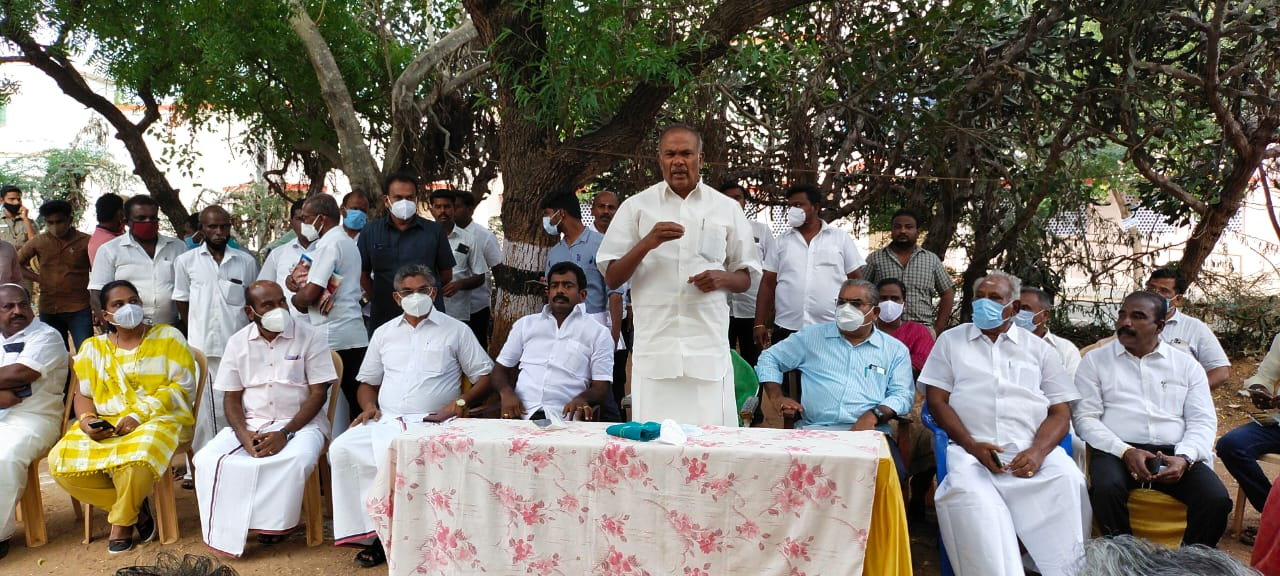 சபாநாயகர் அப்பாவு தலைமையில் தாமிரபரணி-வெள்ளநீர் கால்வாய் ஆலோசனை கூட்டம்